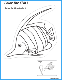 Color the Fish Activity
