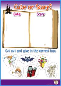 Cute or Scary Halloween Worksheet
