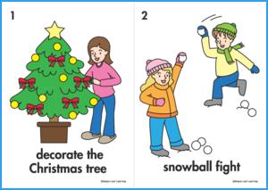 Christmas Verbs Flashcards