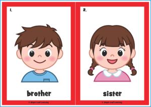 Finger Family Flashcards