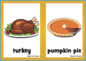 Thanksgiving Flashcards