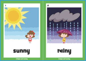 How's the Weather Song Flashcards