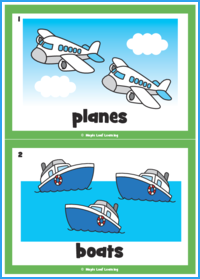 Let's Be Planes Flashcards