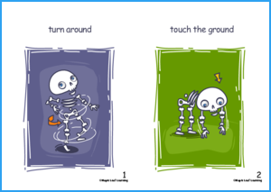 Skeleton Skeleton Song Flashcards