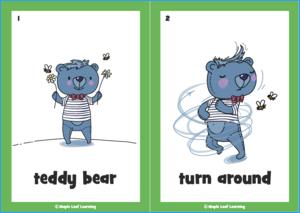 The Teddy Bear Song Flashcards