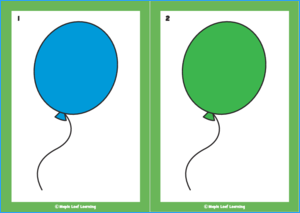 The Balloon Song Flashcards