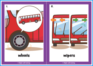 The Wheels on the Bus Song Flashcards