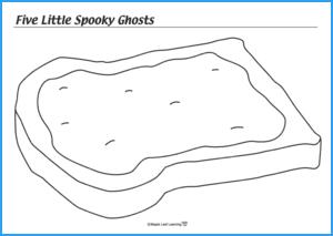 Five Little Spooky Ghosts Halloween Activity