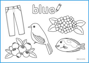Blue Coloring Sheet