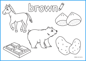 Brown Coloring Sheet