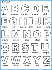 Color ABC Worksheet | Maple Leaf Learning Library
