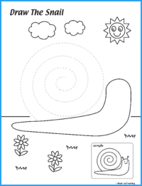 Draw the Snail Activity