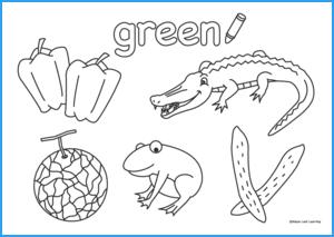 Green Coloring Sheet