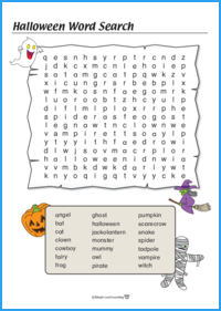 Halloween Word Search Hard