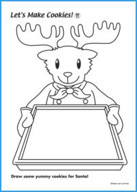 Let's Make Cookies for Santa Claus Worksheet