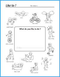 Like to? Worksheet