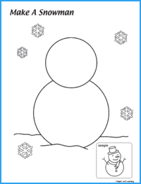 Make a Snowman Coloring Page