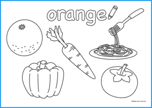 Orange Coloring Worksheet Maple Leaf Learning Library