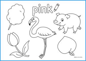 Pink Coloring Sheet