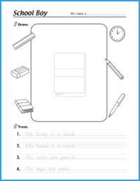 School Boy Worksheet
