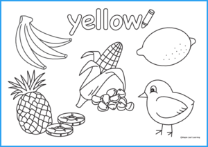 Yellow Coloring Worksheet Maple