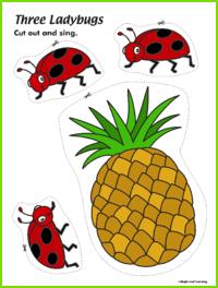 Three Ladybugs Sing and Play