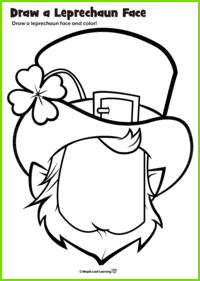 Leprechaun Face Worksheet